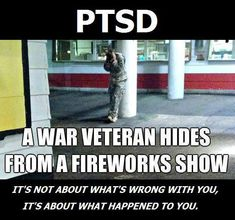 America needs to be doing more for the veterans who suffer from PTSD. The issue shall not be ignored any longer! It's already done so much to the men and women who have served our country, and it's up to us to help them in every way we possibly can.