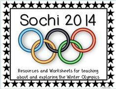 A great pack of activities to teach about and celebrate the 2014 Winter Olympics!