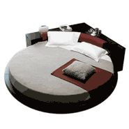 Super Funky Round Bed Stuff That I Like Pinterest Round - Black leather round bed