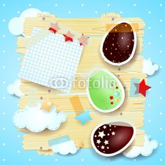New! #Easter eggs on fantasy background #vector #stockimage
