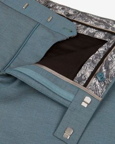 Classic suit pant - Teal | Suits | Ted Baker
