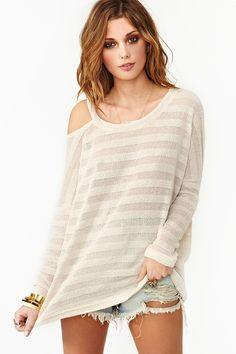 Slashed Stripe Knit
