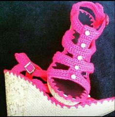 Zapatos en crochet