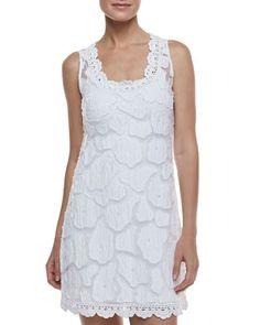Kissing Fish Sleeveless Coverup Dress & Formfitting Camisole Slip, White by Letarte at Neiman Marcus.