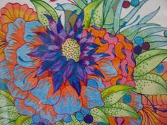 Floral Suspense Colored Pencil Drawing by McAllistersGallery