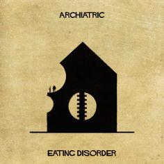 Un illustrateur délivre sa vision des troubles sous des formes architecturales... Un projet artistique bluffant