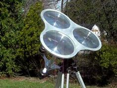 Triple Solar Thermoacoustic Engine - position perfectly for summer solstice