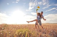 Super cute and playful engagement shoot