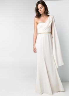 Minimal + Classic: Mango - Cascading long dress