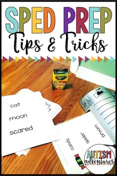 Prep Work as a SPED Teacher Tips and tricks for special education teachers!Tips and tricks for special education teachers! Special Education Activities, Special Education Classroom, Education Quotes For Teachers, Education College, Teaching Resources, Autism Classroom, Autism Activities, Autism Resources, Teaching Aids