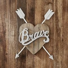 Junk Gypsy Brave Heart Wall Décor #pbteen
