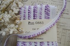 1y Vintage French Two Tone Lavender Purple by VintageFrenchRibbons