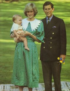 April 23, 1983: Prince Charles and Princess Diana with nine-month Prince William crawl on the lawn of the Government House in Auckland, New Zealand.