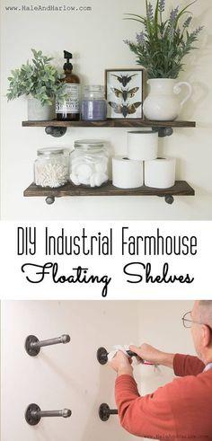 Industrial Farm House Floating Shelves