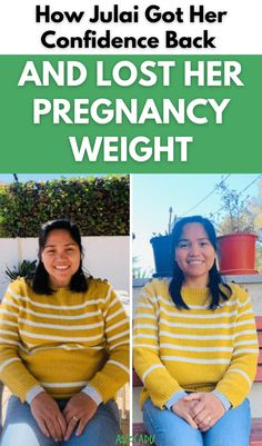 """Many women struggle to lose stubborn """"baby weight"""" after pregnancy. Find out how Julai was able to tackle her weight gain while still breastfeeding! #avocadu #weightloss #babyweight #21daychallenge Weight Gain, Weight Loss Tips, 21 Day Challenge, After Pregnancy, Weight Loss For Women, Breastfeeding, Lost, Baby, Baby Feeding"""
