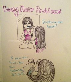 Long hair problems... Grrrr This happens wayy too many times!!