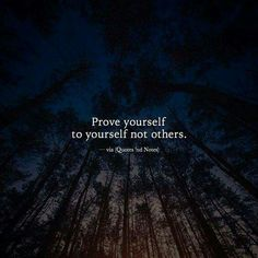 Prove yourself to yourself not others. Wisdom Quotes, True Quotes, Words Quotes, Best Quotes, Sayings, Poetry Quotes, Liking Someone Quotes, Anniversary Quotes, Strong Quotes