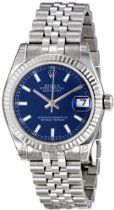 Rolex Datejust Blue Dial Automatic Stainless Steel Ladies Watch 178274BLSJ $6,099.00  #Rolex #Watches #Women Buy Rolex, Rolex Datejust, Automatic Watch, Chronograph, Rolex Watches, Bracelet Watch, Stainless Steel, My Style, Lady