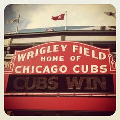 Wrigley Field...the smell,the noise,the vibe! What a cool place.