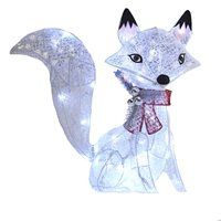 24-in Lighted Glittered Fox Outdoor Christmas Decoration