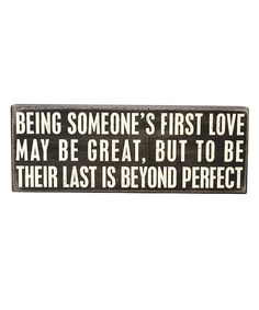 Look what I found on #zulily! 'Beyond Perfect' Box Sign by Primitives by Kathy #zulilyfinds