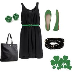St. Patrick's Day Outfit, created by alanad23 on Polyvore