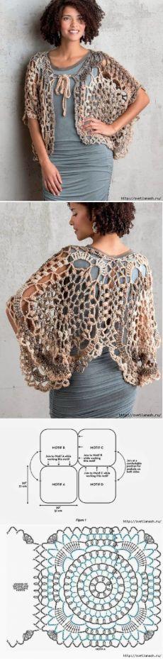 Irish crochet &: CROCHET CAPE