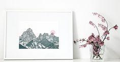 """Digitaldruck - ninotschka print """"Rosa Sonne"""" collage A3 - ein Designerstück von nininotschka bei DaWanda"""