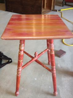 Spindle table painted with CeCe Caldwell paint.
