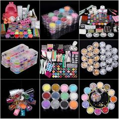 The best step by step guide on how to do acrylic nails at home pro full set acrylic nail art tips powder brush manicure glitter decor tools kit solutioingenieria Images