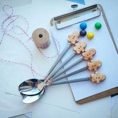 вкусные ложки из полимерной глины мастер класс - Поиск в Google