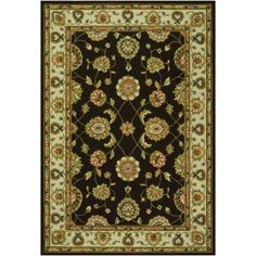 Couristan Covington Maplewood Chocolate 5 ft. 6 in. x 8 in. Area Rug-21305378056080T at The Home Depot