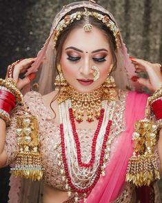 Beautiful Indian Brides, Beautiful Bridal Dresses, Beautiful Bride, Bridal Makup, Bridal Makeup Images, Indian Bridal Photos, Asian Bridal, Bridal Looks, Bridal Style