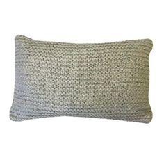 Knit Metallic Lumbar Pillow - Spa