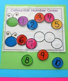 Fun Number Order Activity for Kindergarten Learning Numbers for Toddlers Learning Numbers Preschool, Numbers Kindergarten, Kindergarten Math Activities, Number Activities, Toddler Learning Activities, Educational Activities, Number Games For Toddlers, Autism Learning, Fun Math