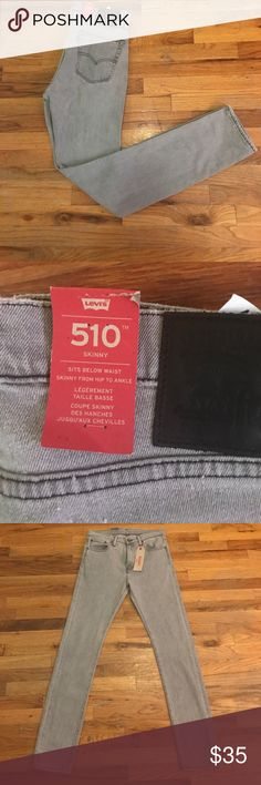 6c76fd0585 Levi's gray 510 skinny jeans 32W x 34L brand new Brand new with tags never  worn