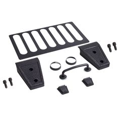 Hood Dress Up Kit, Black; 13-17 Jeep Wrangler JK