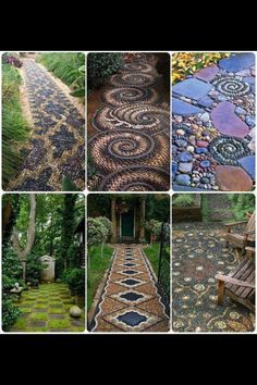 Incredible walkways.  Incredible patience.  Looks so much better than my weeds.