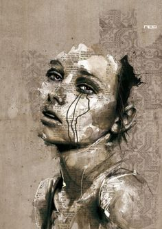 Florian Nicolle is a graphic designer and illustrator freelancer based in France. Florian has a degree in Graphic Design and have passion on illustration. He tries to create an image … Portraits Illustrés, Portrait Art, Woman Portrait, Pintura Graffiti, Art Du Monde, Portrait Illustration, Illustration Artists, Art Design, Graphic Design