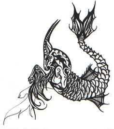 Beautiful Grey Ink Capricorn Tattoos Design - Capricorn Tattoo Designs