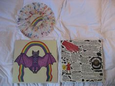 """Thee Oh Sees' """"Help"""" on clear vinyl with rainbow splatter."""