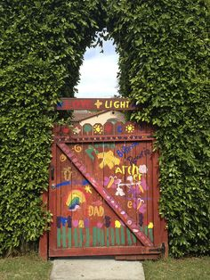 Summer Fun: Let the kids paint the fence with washable paint. Great idea @Rebecca Woolf! PS as many of you know I am obsessed with her blog Girl's Gone Child. <3 love.