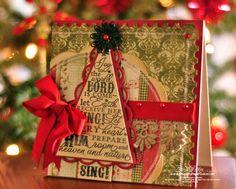 Christmas tree card  Spellbinders scallop pennant upside down