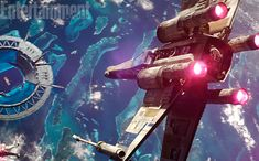 Star Warsfans have been wondering: What is the wheel-shaped space station that an X-Wing squadron is seen attacking inRogue One?    What you're looking at is the Shield Gate, and the world below is Scarif, a tropical planet that is one of the Empire's key military bases. Think of it as a galactic Los Alamos, the top-secret desert town where scientists and engineers built the first nuclear bomb during World War II.
