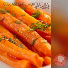 DeBonteKeuken: Geglaceerde worteltjes (wortelen, peentjes, roomboter, water, peper en zout, honing, makkelijk, simpel, recept, gezond, avondeten, maaltijd, kerst)