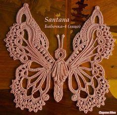 Letras e Artes da Lalá: crochet butterfly