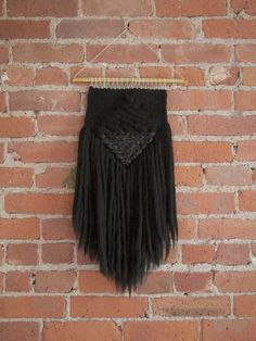 Handmade Woven Wall Art - The Chloe Black - READY TO SHIP by TheUrbanLoomShop on Etsy