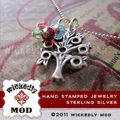 Mom Necklace  Family Necklace  Personalized by wickedlymodpendants, $54.00