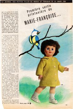 """""""Première sortie printanière de Marie-Françoise"""" Fiche N° 151 de Mars 1966 - http://augredutemps.canalblog.com/archives/2012/12/20/25970064.html"""