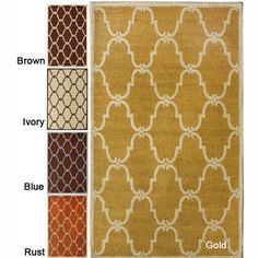 Handmade Luna Marrakesh Trellis Wool Rug (7'6 x 9'6)   Overstock.com